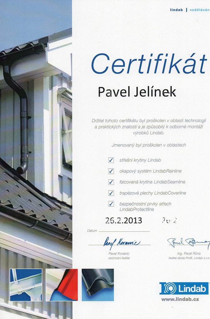 Certifikát Lindab 2013.jpg